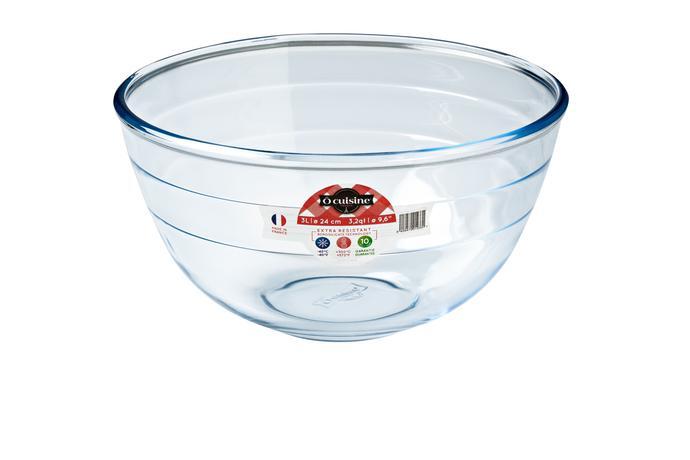 Mísa na šlehání O''Cuisine 24cm/3L, sklo