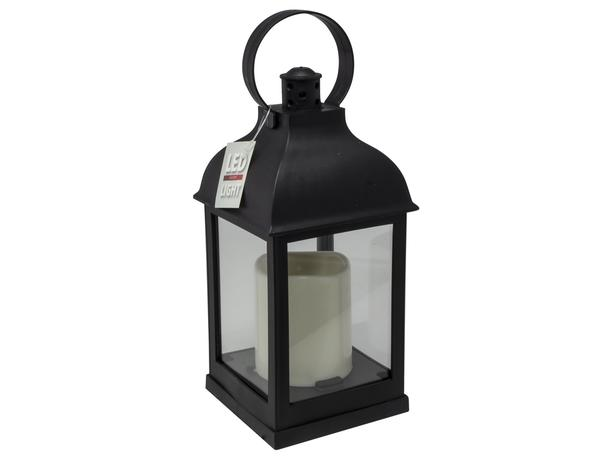 Dekorační lucerna s LED svíčkou 27cm