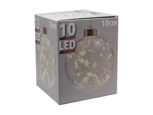 Koule vánoční s 10 LED hvězdičkami, pr. 10 cm