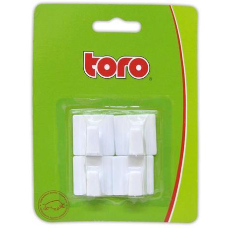 Plastové samolepící háčky TORO 4ks