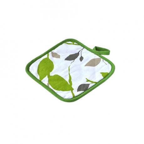 Kuchyňská chňapka malá, zelené květy