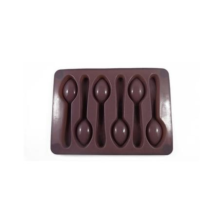 TORO Forma silikonová na led/čokoládu,tvar lžička,šedo-hnědá