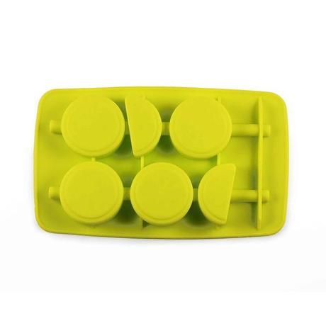 Forma silikon na led s brčkem, citrón, zelená