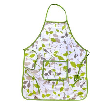 Kuchyňská zástěra TORO zelené květy