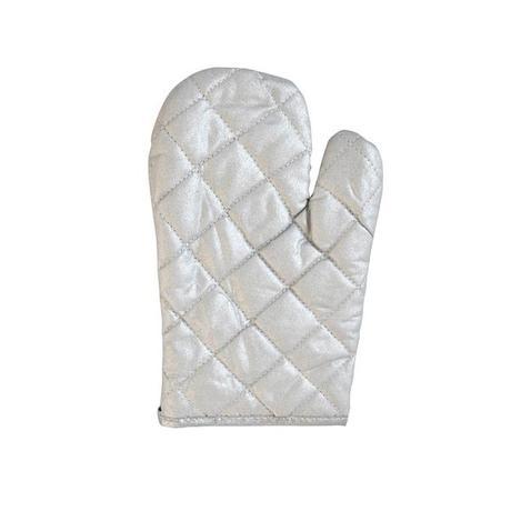 Chňapka rukavice, grilovací, stříbrná