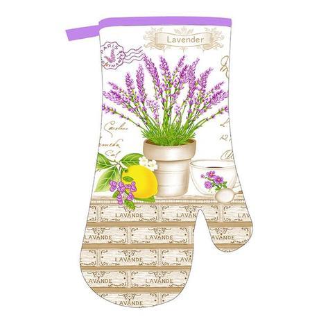 Kuchyňská rukavice TORO Levandule