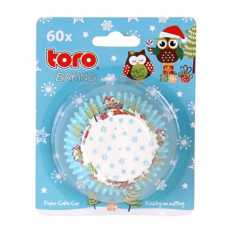 Papírové košíčky na muffiny TORO 60ks vánoční...