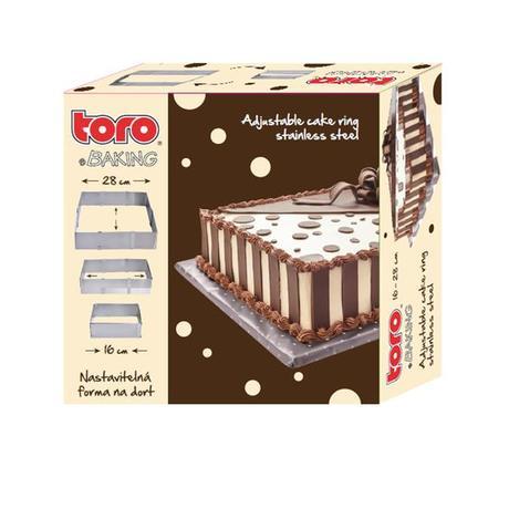 Nastavitelná nerezová forma na dort TORO 16 -...