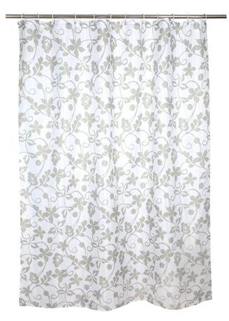 Sprchový závěs, polyester, 180 x 180 cm, moti...