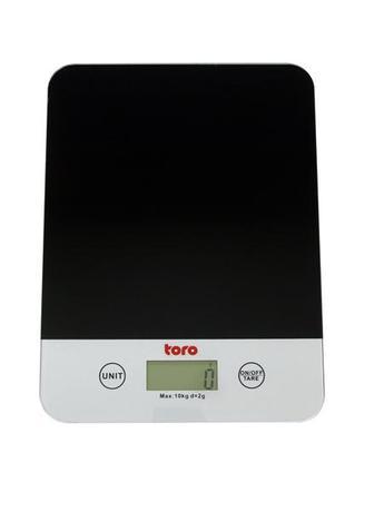 TORO kuchyňská váha elektronická do 10ti Kg 24 x 18 x 1,9 cm