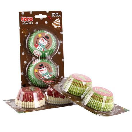Papírové košíčky na muffiny TORO 100ks vánočn...
