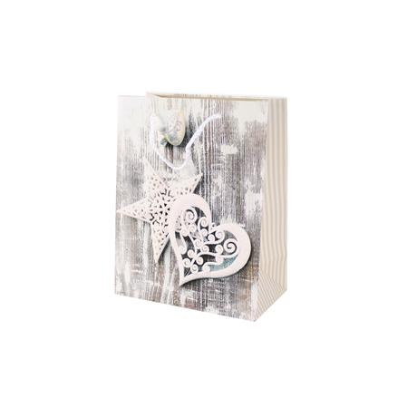 Papírová vánoční dárková taška TORO 23x18x10c...