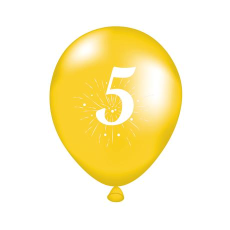 Balónek s potiskem 5 TORO 5ks