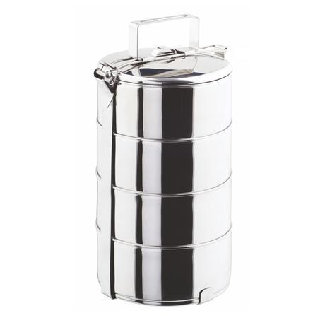 Nerezový jídlonosič TORO 4x1,25l