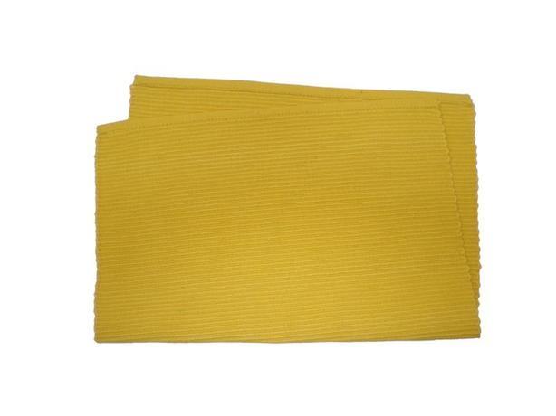 TORO Prostírání žebrovaný profil žlutá, 33 x 45 cm