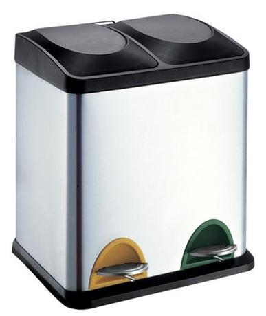 TORO Koš na odpadky nerez, na tříděný odpad, objem 30 l, 40 x 30 x 49 cm