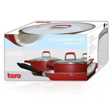 Sada nádobí TORO 7ks, keramický povrch