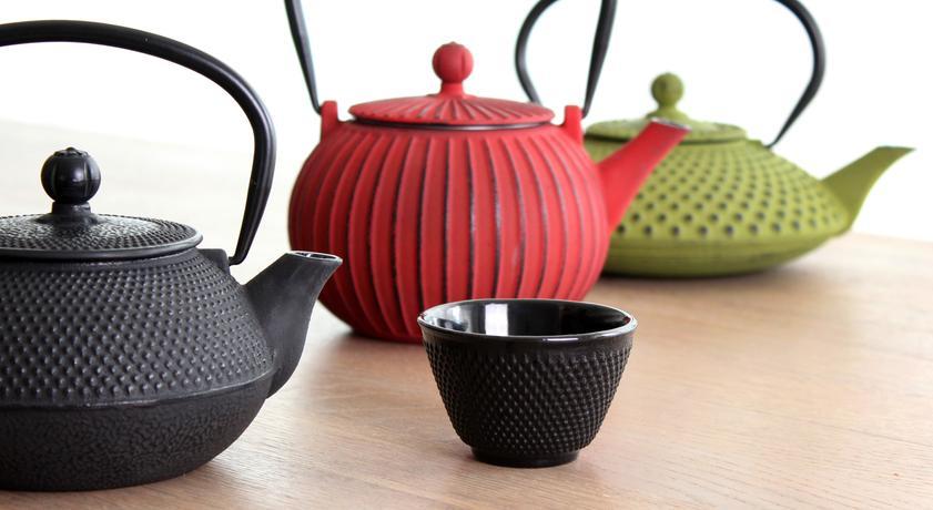 Litinová konvice na čaj TORO 1,15l červená