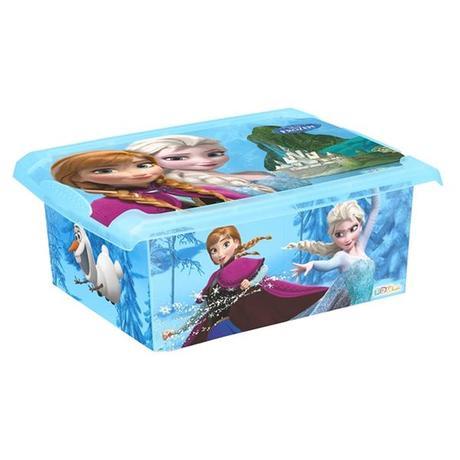 Plastový úložný box s víkem Ledové království...