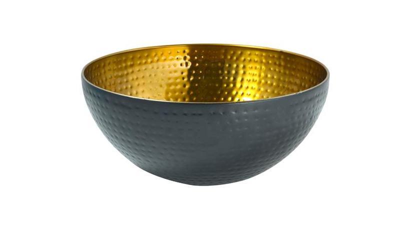 Miska nerez, černá/zlatá, průměr 19 cm