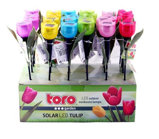 Solární venkovní LED světlo TORO tulipán
