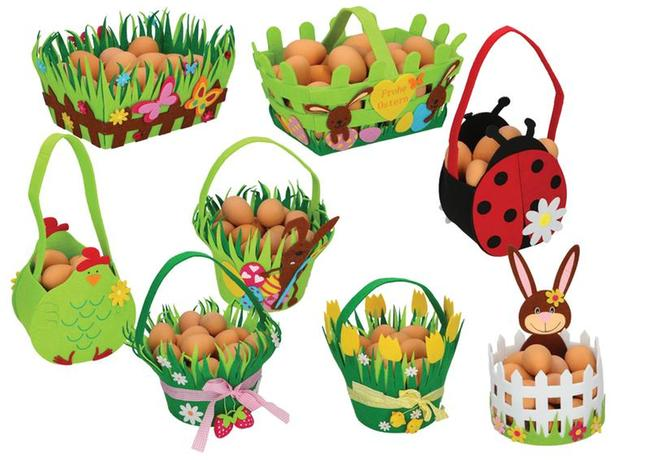 Košík velikonoční plstěný, assort