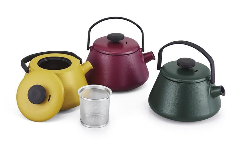Litinová konvice na čaj BRABANTIA T-TIME žlut...
