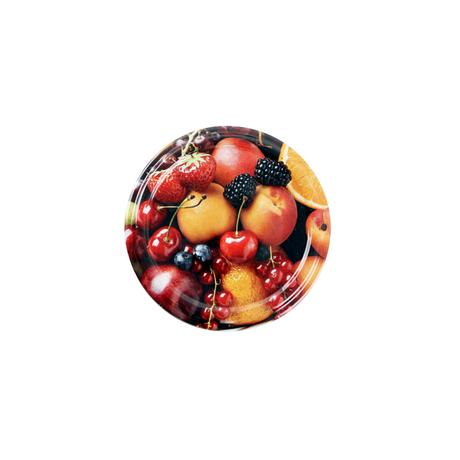 TORO Víčko na zavařovací sklenice 10ks, 66mm, motiv ovoce