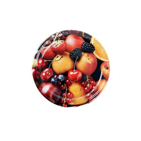 TORO Víčko na zavařovací sklenice 10ks, 82mm, motiv ovoce