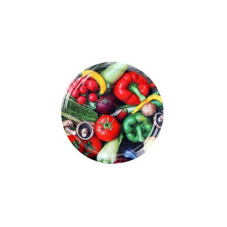 TORO Víčko na zavařovací sklenice 10ks, 66mm, motiv zelenina
