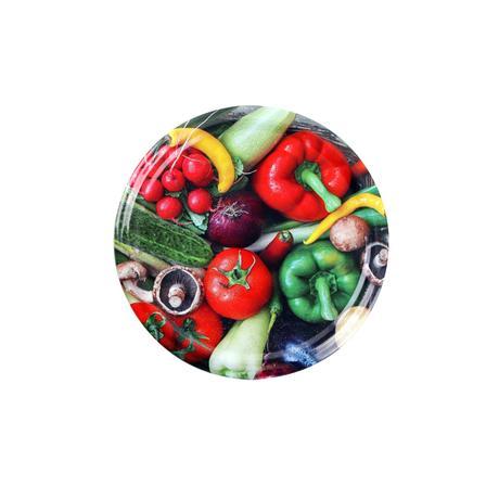 TORO Víčko na zavařovací sklenice 10ks, 82mm, motiv zelenina