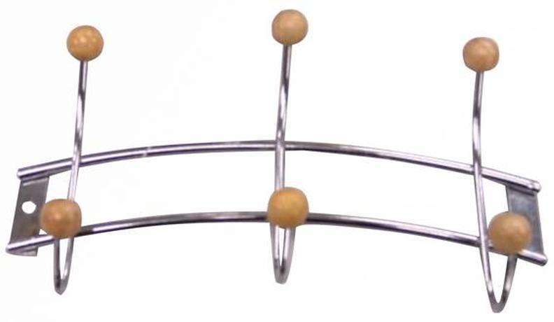 Nástěnný drátěný věšák TORO 3 háčky
