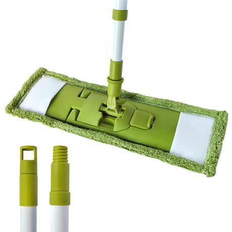 Mop na podlahu, teleskop. tyč, zelený