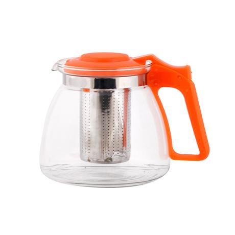 Konvice na čaj 0,9 l s nerezovým sítkem, oran...