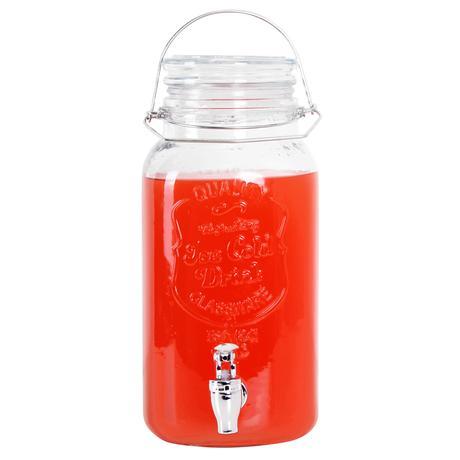 Sklenice na nápoj s otočným kohoutkem, 4 l