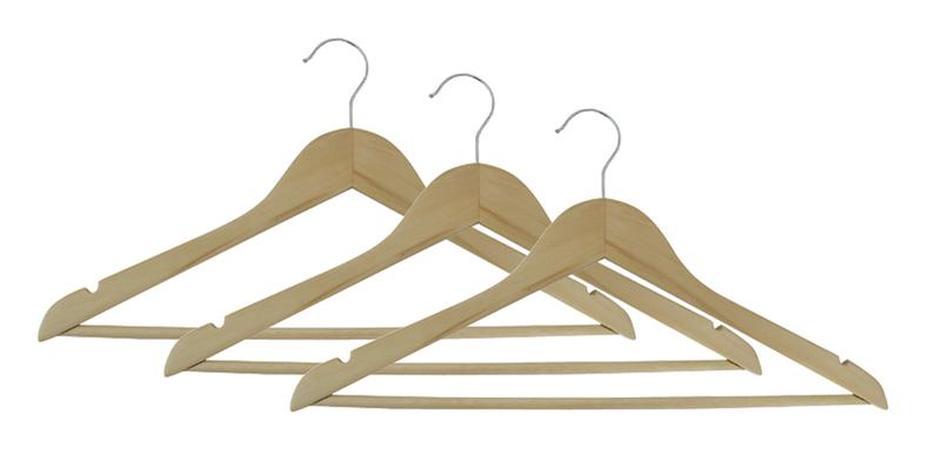 Dřevěné ramínko na šaty TORO 3ks