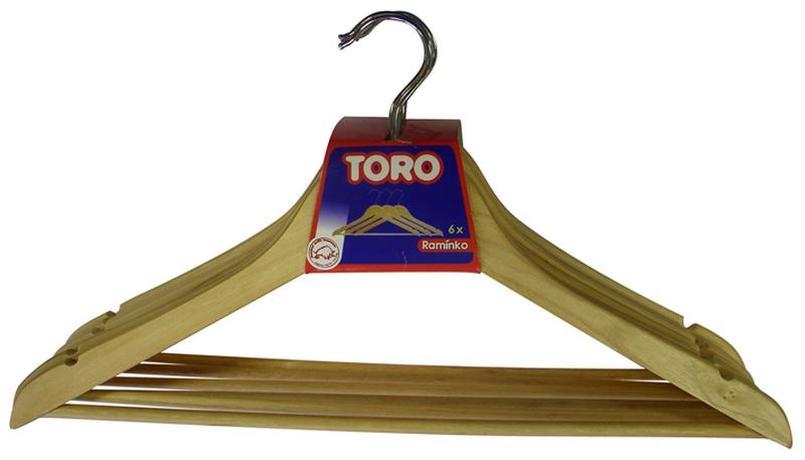 Dřevěné ramínko na šaty TORO 6ks