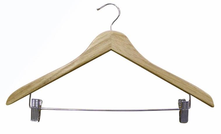 Dřevěné ramínko na šaty a kalhoty TORO
