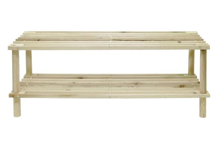 Botník dvoupatrový, dřevo