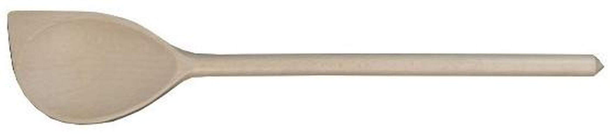 Vařečka oválná s rohem 30 cm, dřevo