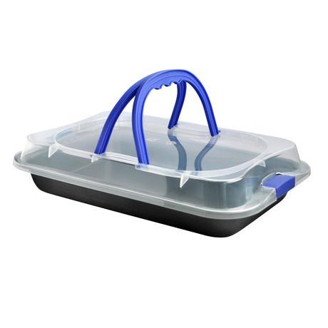 TORO Plech TORO na pečení s plastovým víkem, 23 x 36 x 4, 5 cm