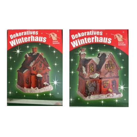 Domeček vánoční, malovaný, assort