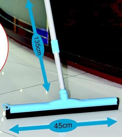 TORO Stěrka na podlahu s gumou a teleskopickou tyčí, 135 cm