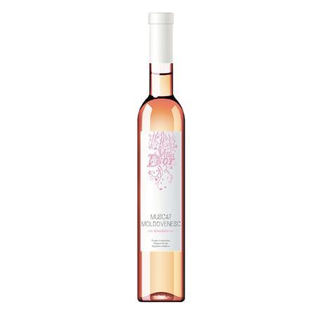 Růžové víno Muscat Villa D'Or 0,5l