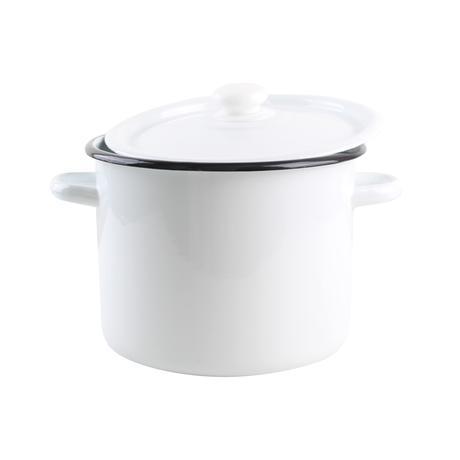 Smaltovaný hrnec s poklicí 5,5l bílý