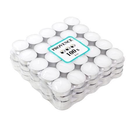 Čajová svíčka PROVENCE 100ks bílá