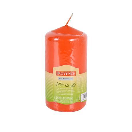 Neparfemovaná svíčka PROVENCE 12,5cm oranžová