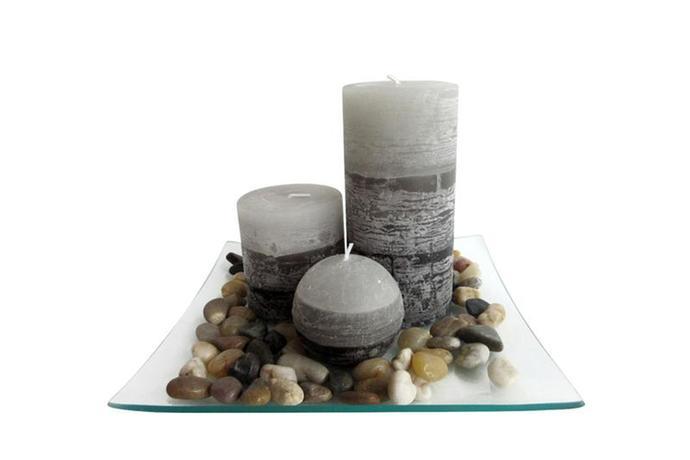 Dárkový set 3 svíček s vůní jasmín na skleněn...