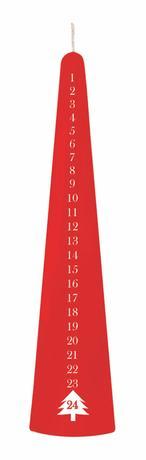 Svíčka kónická červená, 25 cm, adventní