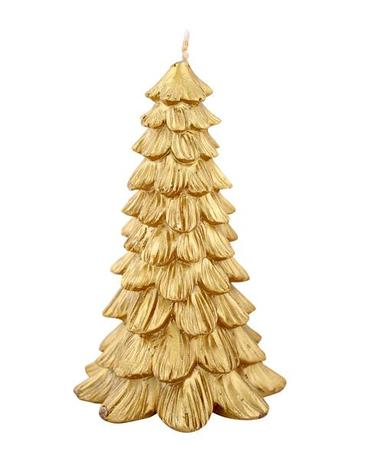 Svíčka vánoční stromek, zlatá